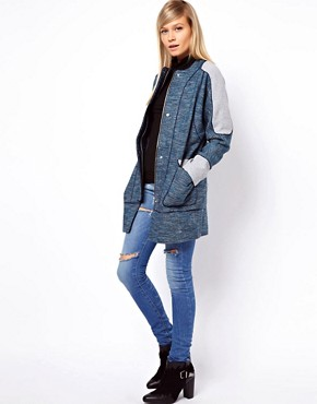 Image 4 ofASOS Blocked Textured Coat