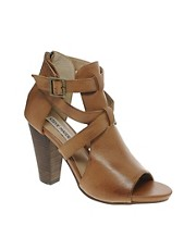 Steve Madden  Springg  Hellbraune Riemensandalen Tan mit hohem Absatz
