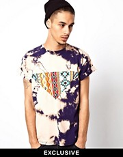Reclaimed Vintage Paneled Tie-Dyed T-Shirt