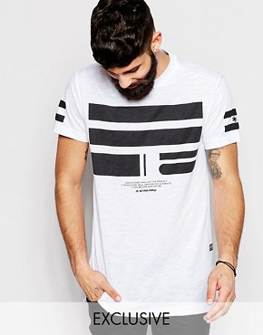 Exclusive to ASOS G-Star BeRAW T-Shirt Yur Longline Front Logo Print