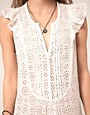 Image 3 ofZadig and Voltaire Flippy Broderie Dress with Raw edge Detail