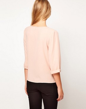 Image 2 ofASOS Blouse With Drop Wrap Placket