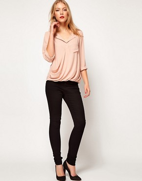 Image 4 ofASOS Blouse With Drop Wrap Placket