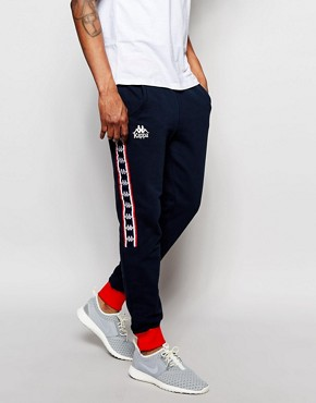 Kappa Skinny Joggers With Poppers