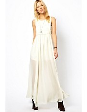 Mango Thigh Split Maxi Dress