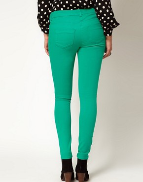 Image 2 ofASOS Maternity Exclusive Skinny Jean In Emerald Green