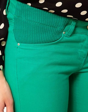 Image 3 ofASOS Maternity Exclusive Skinny Jean In Emerald Green
