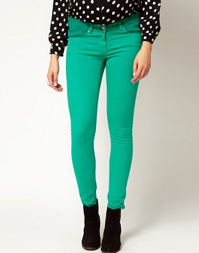 Image 4 ofASOS Maternity Exclusive Skinny Jean In Emerald Green