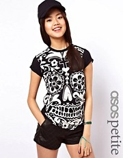 ASOS PETITE Exclusive T-Shirt With Giant Habanera Skull Print