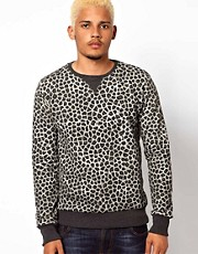 Criminal Damage Sweat In Leopard Print