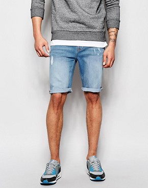 Hoxton Denim Shorts Distressing