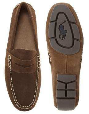 Image 3 ofPolo Ralph Lauren Telly Suede Loafers