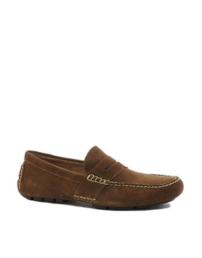 Image 1 ofPolo Ralph Lauren Telly Suede Loafers