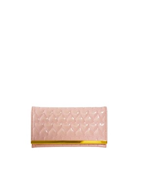 Image 1 ofASOS Patent Quilted Heart Purse