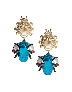 Image 1 ofASOS Ladybug Doorknocker Earrings