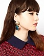 Image 2 ofASOS Ladybug Doorknocker Earrings