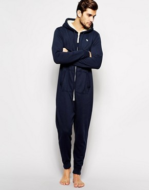 Abercrombie & Fitch Onesie with Hood and Sherpa Lining