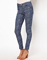 Insight Jacquard Print Skinny Jeans