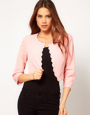 Image 1 ofASOS Cute Blazer With Scallop Edge