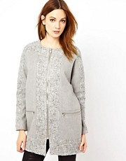 Warehouse Zip Cocoon Coat