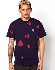 10 Deep T-Shirt Nightwork Printed Floral Logo