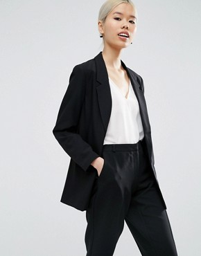 ASOS Slim Tailored Jacket In Crepe