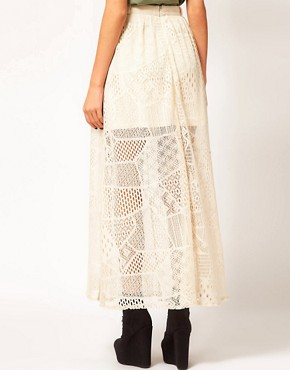 Image 2 ofRiver Island Chelsea Girl Lace Maxi Skirt