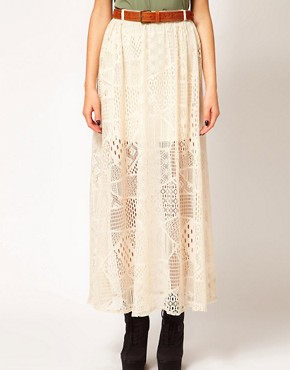 Image 4 ofRiver Island Chelsea Girl Lace Maxi Skirt