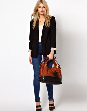 Image 3 ofASOS Contrast Tassel Bag