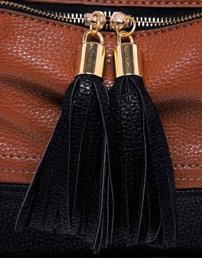 Image 4 ofASOS Contrast Tassel Bag