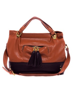 Image 1 ofASOS Contrast Tassel Bag