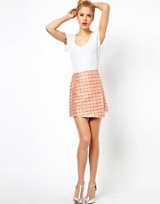 ASOS Mini Skirt In Jacquard With Wrap Detail
