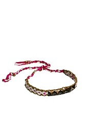 Orelia Studded Woven Friend Bracelet
