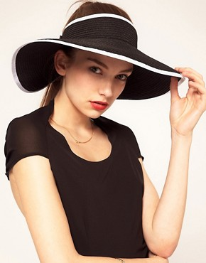 Image 1 ofASOS Wide Brim Straw Visor
