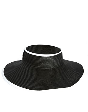 Image 2 ofASOS Wide Brim Straw Visor