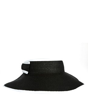 Image 4 ofASOS Wide Brim Straw Visor