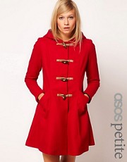 ASOS PETITE Exclusive Hooded Swing Duffle Coat