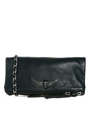 Zadig &amp; Voltaire Leather Pochette Rock Shoulder Bag
