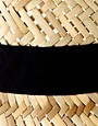 Bild 4 von ASOS  Trilby-Hut aus Stroh mit schwarzem Band