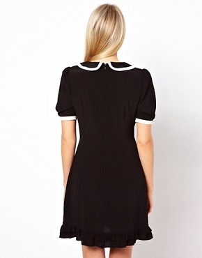 Image 2 ofASOS Mini Dress With Piping Detail
