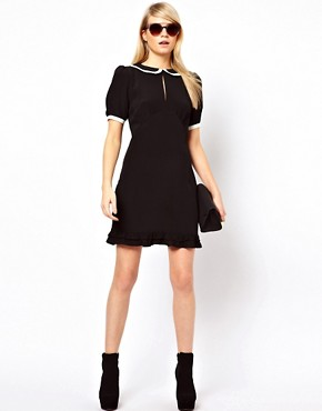 Image 4 ofASOS Mini Dress With Piping Detail