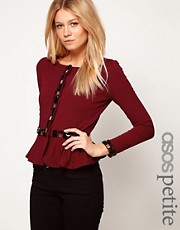 ASOS PETITE Exclusive Peplum Jacket With Embellishment