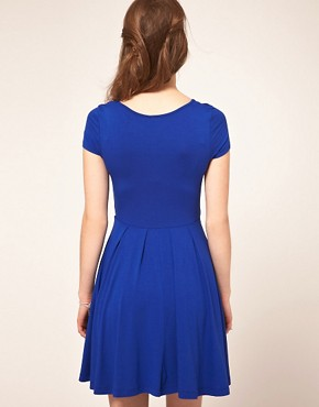 Image 2 ofASOS Skater Dress with Cap Sleeves
