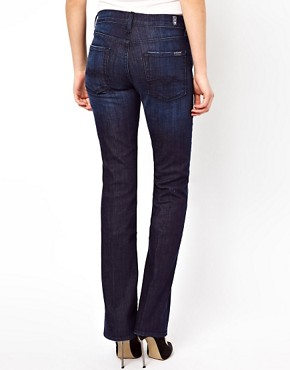 Image 2 of7 For All Mankind Mid Rise Bootcut Los Angeles Dark Jeans