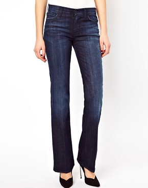 Image 4 of7 For All Mankind Mid Rise Bootcut Los Angeles Dark Jeans
