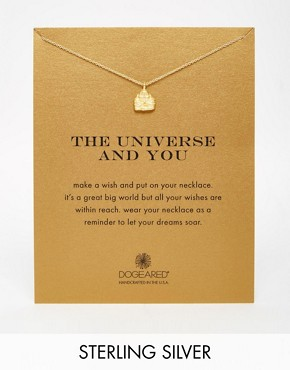 Dogeared Gold Plated The Universe & You Happy Buddha Necklace