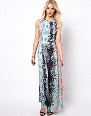 A Wear Maxi Dress In Mexicana Print