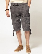 Jack & Jones Enter Check Cargo Shorts