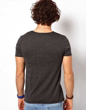 Image 2 ofASOS T-Shirt With Raw Edge U-Neck