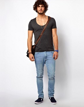 Image 4 ofASOS T-Shirt With Raw Edge U-Neck